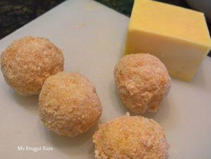 Arancini balls ready to cook